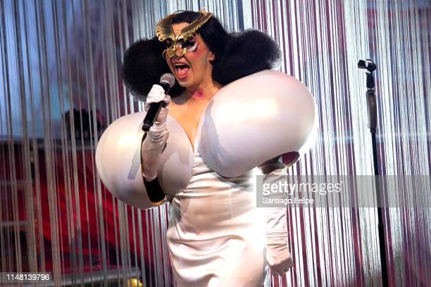 Bjork performs onstage during her Cornucopia Concert series at The Shed on May 09 2019 in New York City