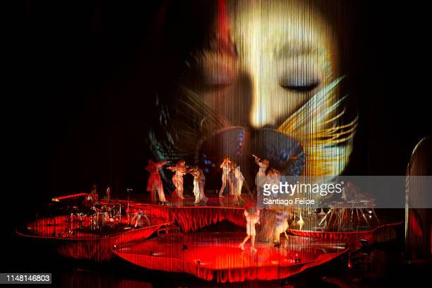 """Bjork performs onstage during her """"Cornucopia"""" Concert series at The Shed on May 09, 2019 in New York City."""