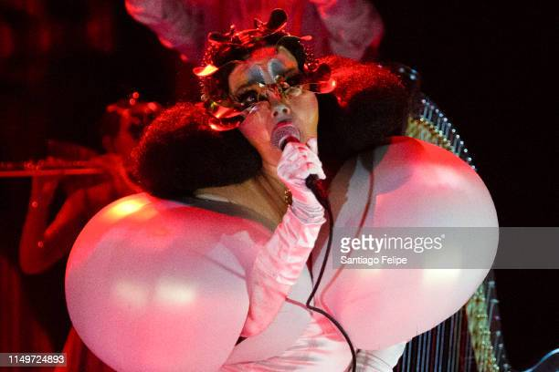 Bjork performs onstage during her Cornucopia concert series at The Shed on May 16 2019 in New York City