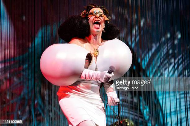 "Bjork performs onstage during her ""Cornucopia"" concert series at The Shed on May 22, 2019 in New York City."