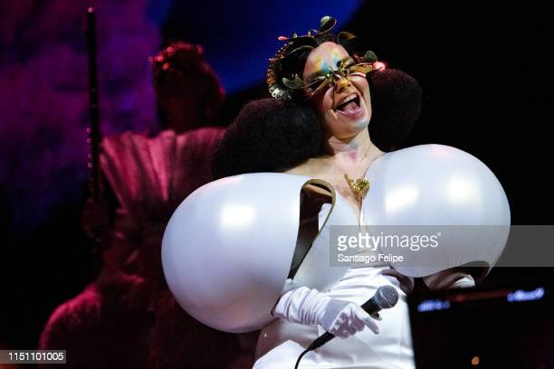 Bjork performs onstage during her Cornucopia concert series at The Shed on May 22 2019 in New York City