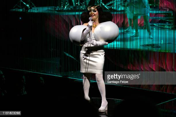 Bjork performs onstage during her Cornucopia concert series at The Shed on May 25 2019 in New York City