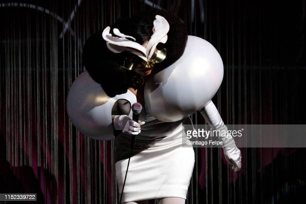 Bjork performs onstage during her Cornucopia concert series at The Shed on May 28 2019 in New York City