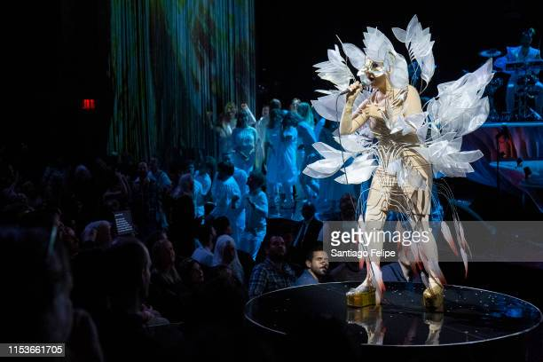Bjork Performs onstage during her Cornucopia concert series at The Shed on June 1 2019 in New York City