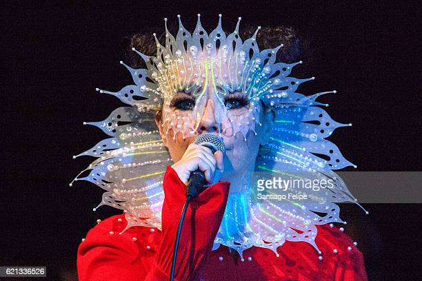 Bjork performs onstage during Iceland Airwaves Music Festival on November 5 2016 at Harpa Concert Hall in Reykjavik Iceland on November 5 2016 in...