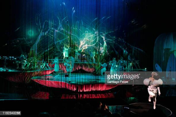 Bjork R performs onstage during her Cornucopia concert series at The Shed on May 28 2019 in New York City