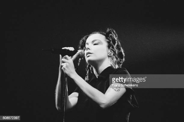 Bjork vocal performs at Lowlands in Biddinghuizen Netherlands on 23rd August 1996