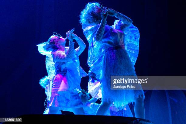 Bjork's Utopian flute septet performs with her onstage during 'Cornucopia' concert series at The Shed on June 1 2019 in New York City