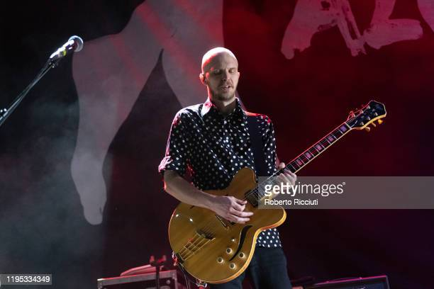 Bjorn Agren of Razorlight performs on stage at Usher Hall on January 22 2020 in Edinburgh Scotland