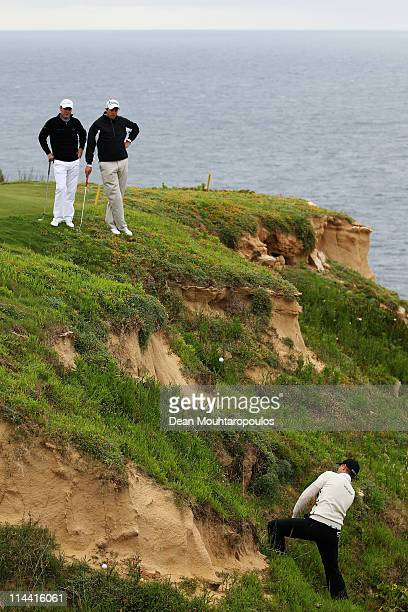 Bjorn Akesson of Sweden plays his third shot on the 15th hole during day one of the Madeira Islands Open on May 19 2011 in Porto Santo Island Portugal