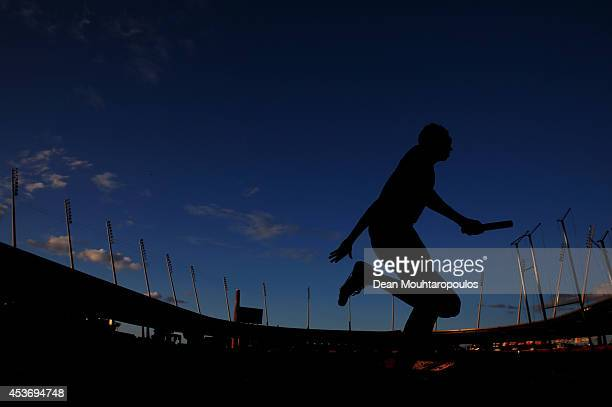 Bjorn Blauwhof of the Netherlands starts a rerun of the Mens 4x400m heat during the 22nd European Athletic Championships at Stadium Letzigrund on...