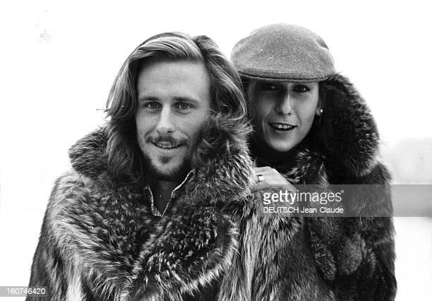 Bjorn Borg And His Bride Mariana Simionescu Back In Sweden. Le tennisman Bjorn BORG et sa fiancée Mariana SIMIONESCU emmitouflés dans des manteaux de...