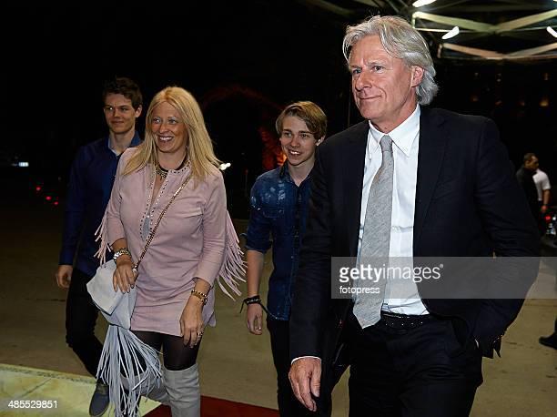 Bjorn Borg and his wife Patricia Ostfeldt attend the 22nd Grand Tennis Night at the Salle des Etoiles on April 18 2014 in MonteCarlo Monaco