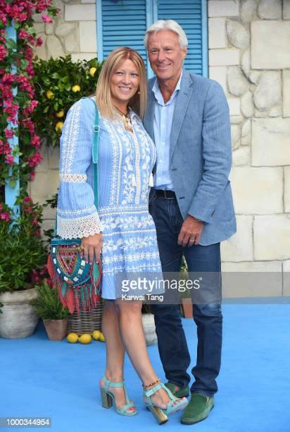 Bjorn Borg and Patricia Ostfeldt attend the World Premiere of Mamma Mia Here We Go Again at Eventim Apollo on July 16 2018 in London England