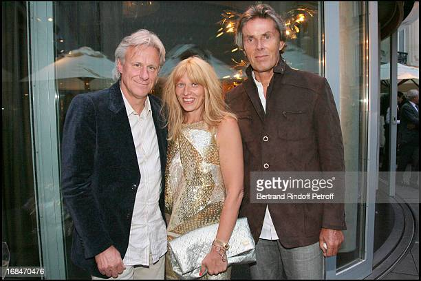 Bjorn Borg and wife Patricia and Dominique Desseigne at Diner Des Champions Celebrating 80 Years Of The Roland Garros At Restaurant Diane At...