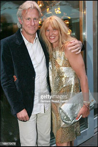 Bjorn Borg and wife Patricia at Diner Des Champions Celebrating 80 Years Of The Roland Garros At Restaurant Diane At Fouquet's Hotel In Paris
