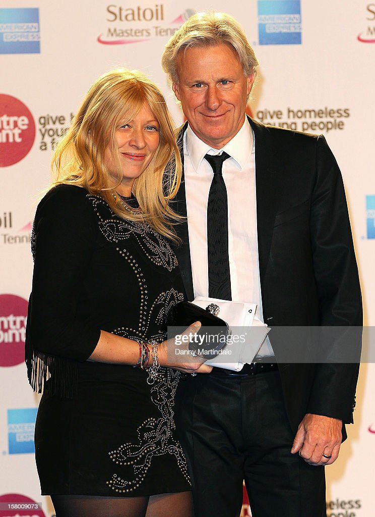 Bjorn Borg and wife Patricia Ostfeldt attends the Winter Whites Gala at Royal Albert Hall on December 8, 2012 in London, England.