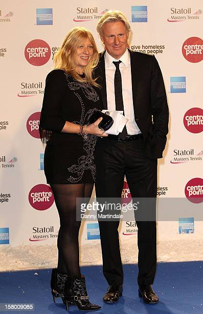 Bjorn Borg and wife Patricia Ostfeldt attends the Winter Whites Gala at Royal Albert Hall on December 8 2012 in London England