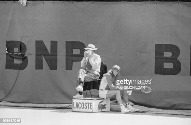Bjorn Borg bat François Jauffret en huitième de finale de RolandGarros le 6 juin 1976 Paris France