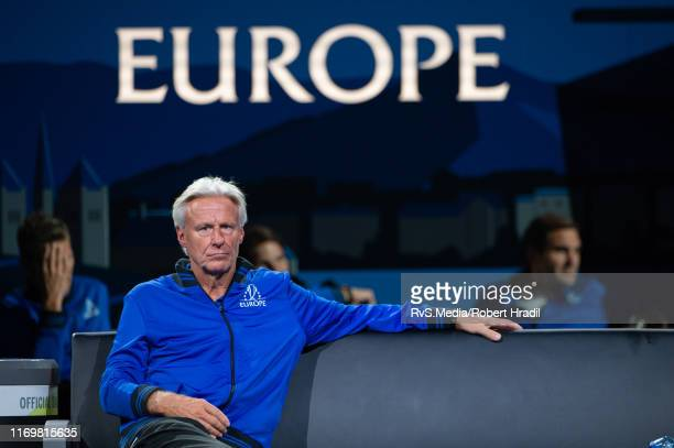 Bjorn Borg, Captain of Team Europe during Day 1 of the Laver Cup 2019 at Palexpo on September 20, 2019 in Geneva, Switzerland. The Laver Cup will see...