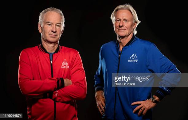 Bjorn Borg captain of Team Europe prior to the Laver Cup at the United Center on September 20, 2018 in Chicago, Illinois.The Laver Cup consists of...