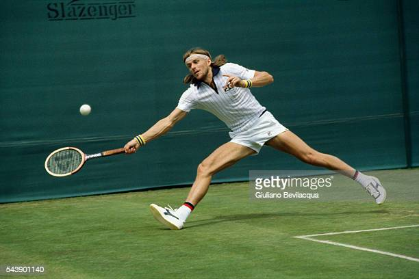 Bjorn Borg during the men's singles Wimbledon Championship