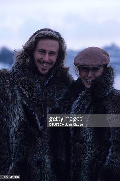 Bjorn Borg En janvier 1979 Bjorn BORG joueur de tennis et son épouse Mariana SIMIONESCU joueuse de de tennis portant tous les deux un manteau de...