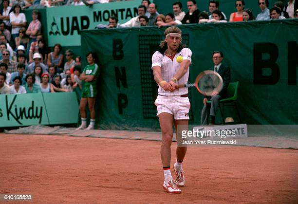 Bjorn Borg in action during the 1978 Roland Garros tennis tournament