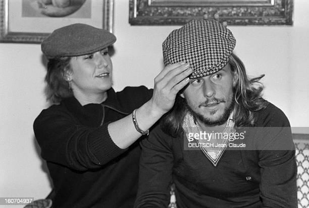 Bjorn Borg In Sweden Stockholm janvier 1979 Le tennisman Bjorn BORG et sa fiancée Mariana SIMIONESCU portent tous les deux une casquette