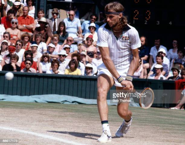 Bjorn Borg of Sweden during the Wimbledon Lawn Tennis Championships held at the All England Club in London England during July 1979