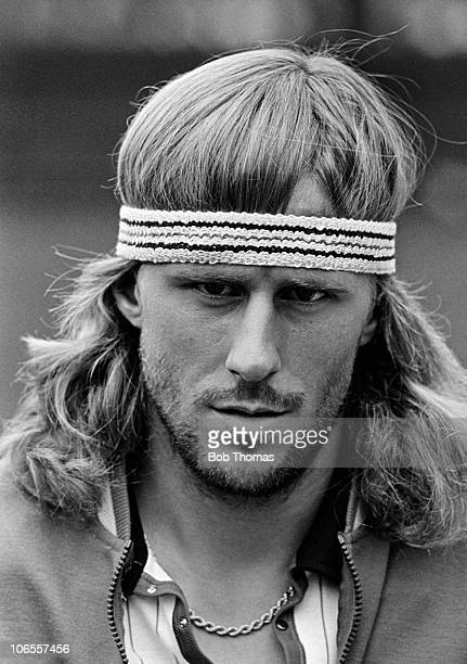 Bjorn Borg of Sweden during the Wimbledon Tennis Championships at the All England Club near London circa July 1980