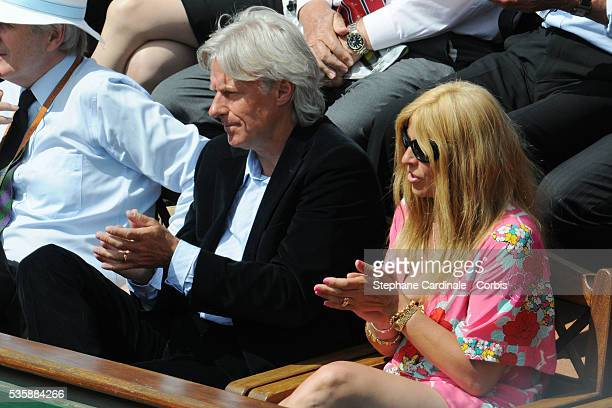 Bjorn Borg with his Wife Patricia attend the Tennis French Open 2009