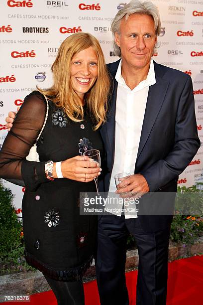 Bjorn Borg with his wife Patricia Borg at the fashion awards of Swedish men's magazine Cafe on August 23 2007 in Stockholm Sweden