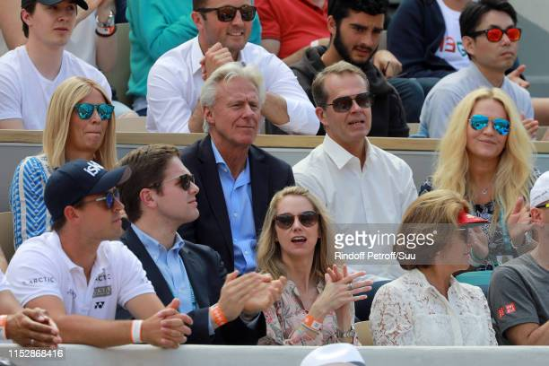 Bjorn Borghis wife Patricia OstfeldtStefan Edberg and his wife Hjort Olsen attend the 2019 French Tennis Open Day Six at Roland Garros on May 31 2019...