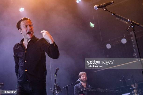 Bjorn Dixgard lead singer of Swedish rock band Mando Diao performs on October 26 2019 at Pustervik in Gothenburg Sweden