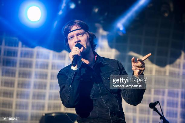 Bjorn Dixgard of Mando Diao performs in concert at Grona Lund on May 25 2018 in Stockholm Sweden