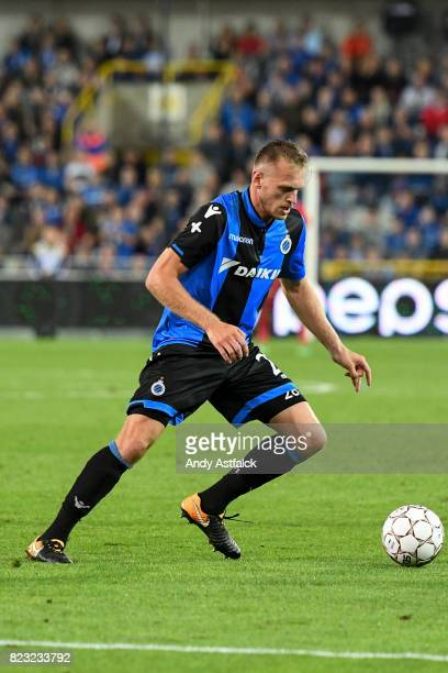 Bjorn Engels from Club Brugge in action during the Champions League Third Round Qualifier First Leg match between Club Brugge and Istanbul Basaksehir...