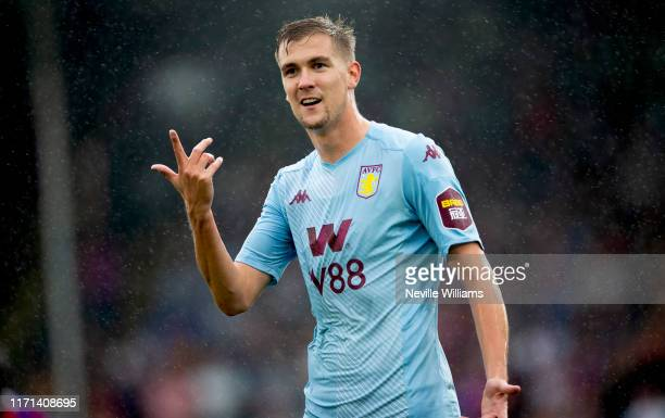 Bjorn Engels of Aston Villa during the Premier League match between Crystal Palace and Aston Villa at Selhurst Park on August 31, 2019 in London,...