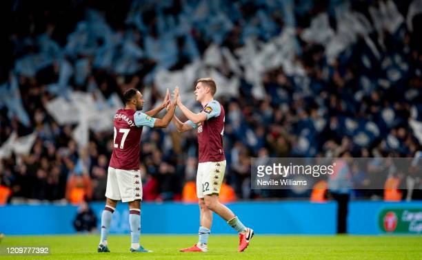 Bjorn Engles of Aston Villa in action during the Carabao Cup Final between Aston Villa and Manchester City at Wembley Stadium on March 01, 2020 in...