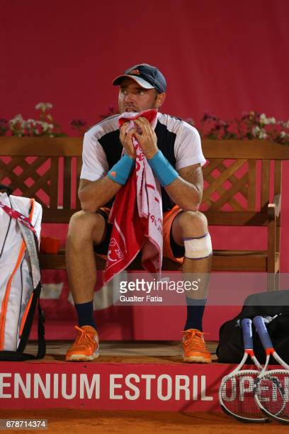 Bjorn Fratangelo during the match between Bjorn Fratangelo from USA and Taro Daniel from the United States the for Millennium Estoril Open at Clube...