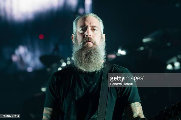 Bjorn Gelotte of In Flames performs live on stage at The SSE Hydro on December 18 2017 in Glasgow Scotland
