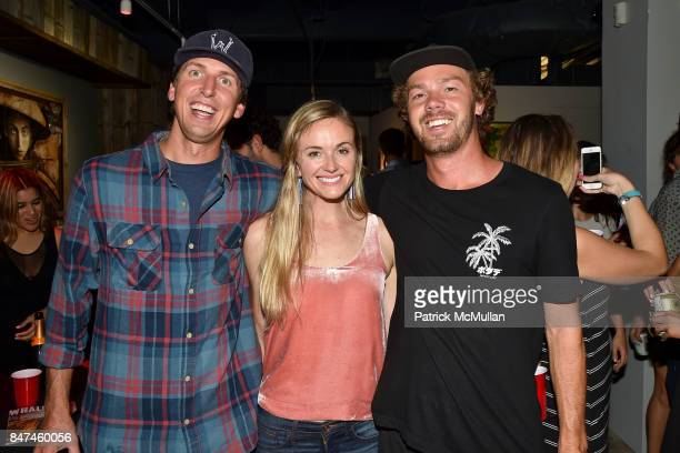 Bjorn Jost Lindsay Brown and Bronson Lamb attend IV New York Gallery Grand Opening Exhibition on September 14 2017 in New York City
