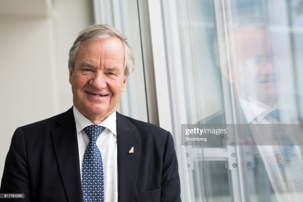 Bjorn Kjos, chief executive officer of Norwegian Air Shuttle AS, poses for a photograph following during a news conference at The Shard in London, U.K., on Tuesday, Feb. 13, 2018. Norwegian are ready to fly from London Gatwick to Tokyo, Shanghai and Beijing if Russia grants rights to fly over Siberia, Kjossaid. Photographer: Chris Ratcliffe/Bloomberg via Getty Images