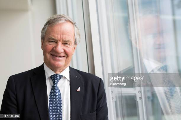 Bjorn Kjos chief executive officer of Norwegian Air Shuttle AS poses for a photograph following during a news conference at The Shard in London UK on...