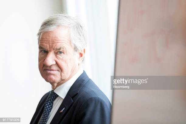 Bjorn Kjos chief executive officer of Norwegian Air Shuttle AS waits to speak at a news conference at The Shard in London UK on Tuesday Feb 13 2018...