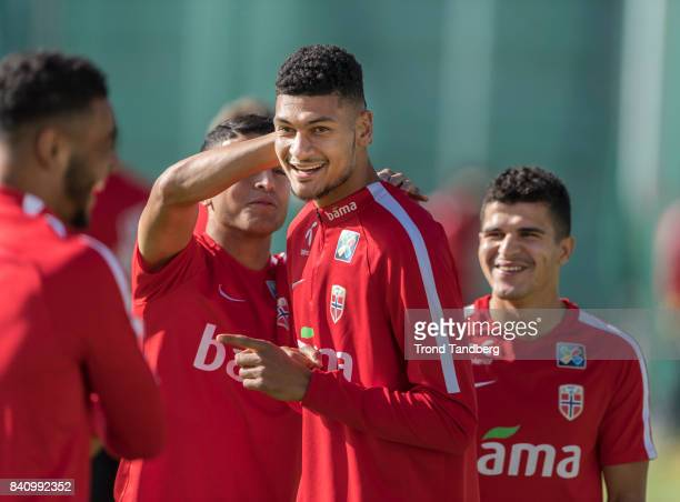 Bjorn Maars Johnsen of Norway during the FIFA 2018 World Cup Qualifier training between Norway and Azerbaijan at Bislett Stadion on August 30 2017 in...