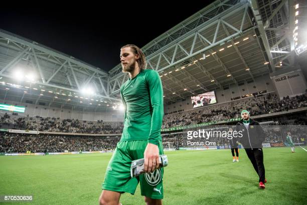 Bjorn Paulsen of Hammarby IF looks dejected after loosing the Allsvenskan match between Hammarby IF and Halmstad BK at Tele2 Arena on November 5 2017...
