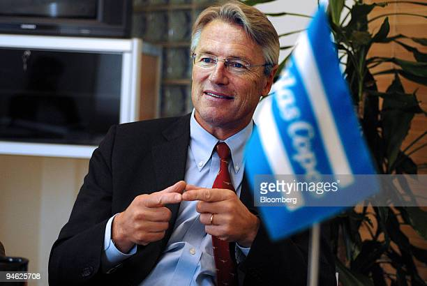 Bjorn Rosengren executive vicepresident of Atlas Copco speaks during an interview in his office in Stockholm Sweden Thursday June 1 2006 Photographer...