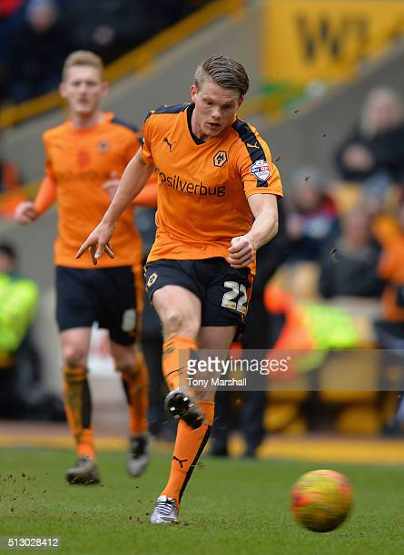 Bjorn Sigurdarson of Wolverhampton Wanderers during the Sky Bet Championship match between Wolverhampton Wanderers and Derby County at Molineux on...