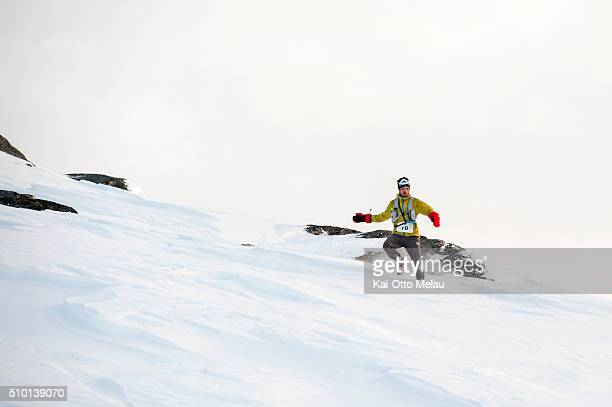 Bjorn Tore Kronen Tananger is a profesional ultrarunner and part of his training is running in deep snow He has no problem with the mountain pass on...